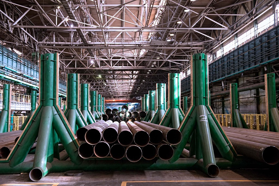 Pipes at Vyksa Plant